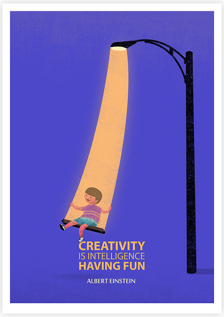 Creativity Is Intelligence Having Fun on Flickr.Giclee Print Tang Yau Hoong: Web | Shop | Facebook | Tumblr | Twitter  | Behance