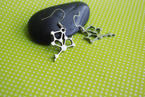 (via Small Molecule DNA Science Geek Earrings by dezziesdazzles on Etsy)