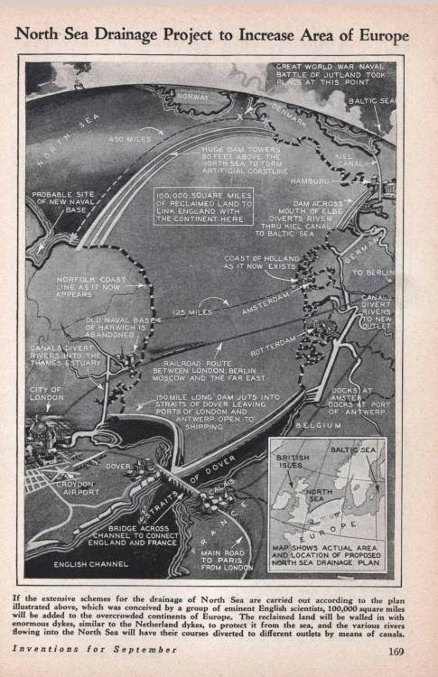 time-for-maps:  North Sea Drainage Project. (1930) [1803×2790]