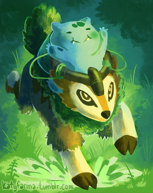 a-nerd-life:  Gogoat and Cabbage by ~nakira knew it wouldn't be long till i saw fan art of the new pokemon revealed
