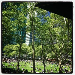Happy Summer Friday, Everyone! Lunchtime in NY has its advantages. :) (at Bryant Park)