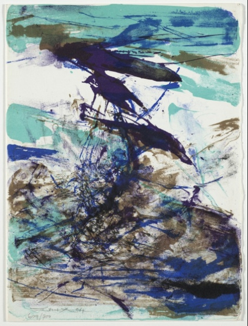 cavetocanvas:  Zao Wou-Ki, Untitled, 1967