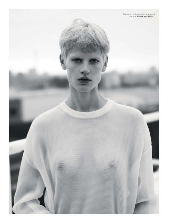 "saskia de brauw in ""boyish"" by mert alas and marcus piggott for love magazine"
