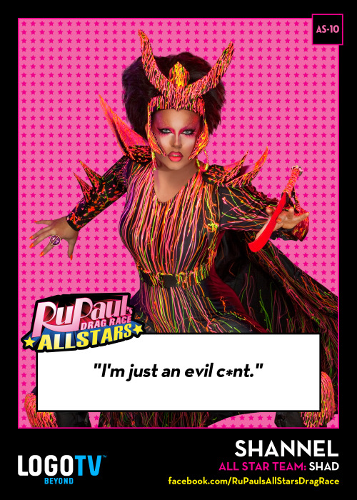 It's RuPaul's Drag Race TRADING CARD THURSDAY AS-10: Shannel!