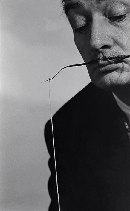 "Philippe Halsman 1954  USA. 1954. Salvadore DALI. ""Fishing for Compliments."""