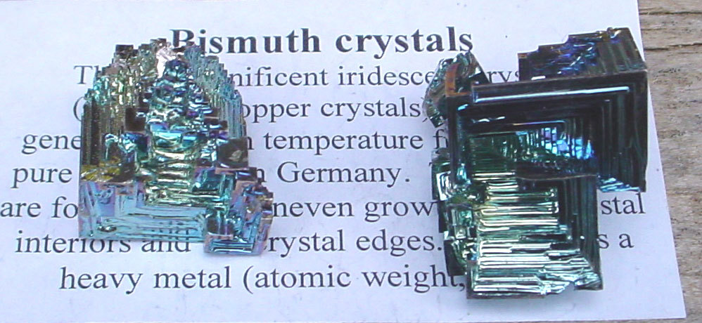 bismuth cool but artificially made