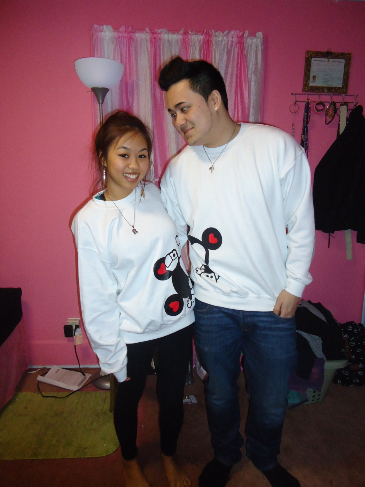 Mickey and Minnie Mouse Crewnecks from @happilyeverafterapparel (: