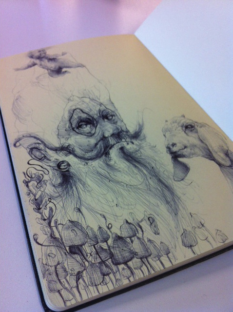 moleskinelovers:  Some work in progress.