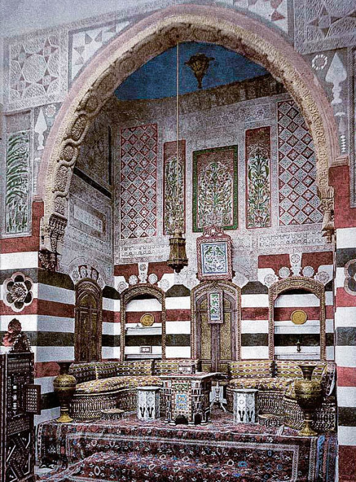 mediterraneum:  Interior of a house, Damascus, Syria. 1890-1900.
