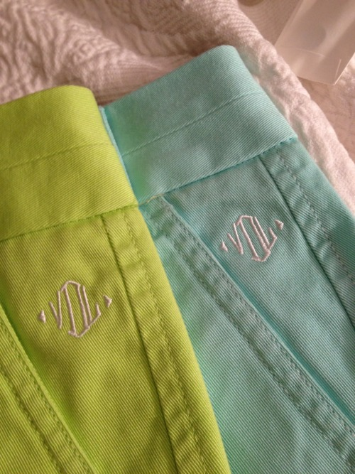 alittleprepinherstep:  Possibly the best day ever. Monogrammed shorts? What could get better than that?