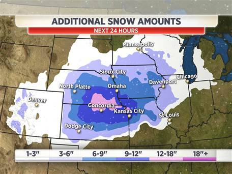 nbcnews:  Winter storm pummels central US; most snow in Wichita in a generation (Photo: TODAY) Lumbering coast to coast, a winter storm hammered the Great Plains on Thursday, and more than a dozen more states were forecast to be hit in coming days. Read the complete story.