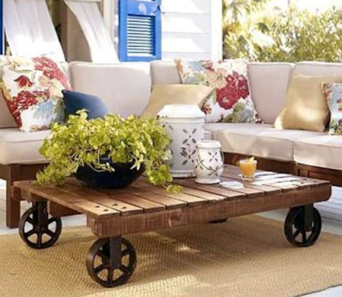 Coffee Tableetsy.com This is a coffee table made from a pallet. Wheels optionalHave any questions? Contact the shop owner.BuyShop owner Drew Connor$200.00 USD  cute