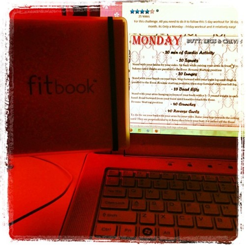 Tomorrow it begins. Get fit, bitch! #fit #workout #fitbook #healthy #resolutions