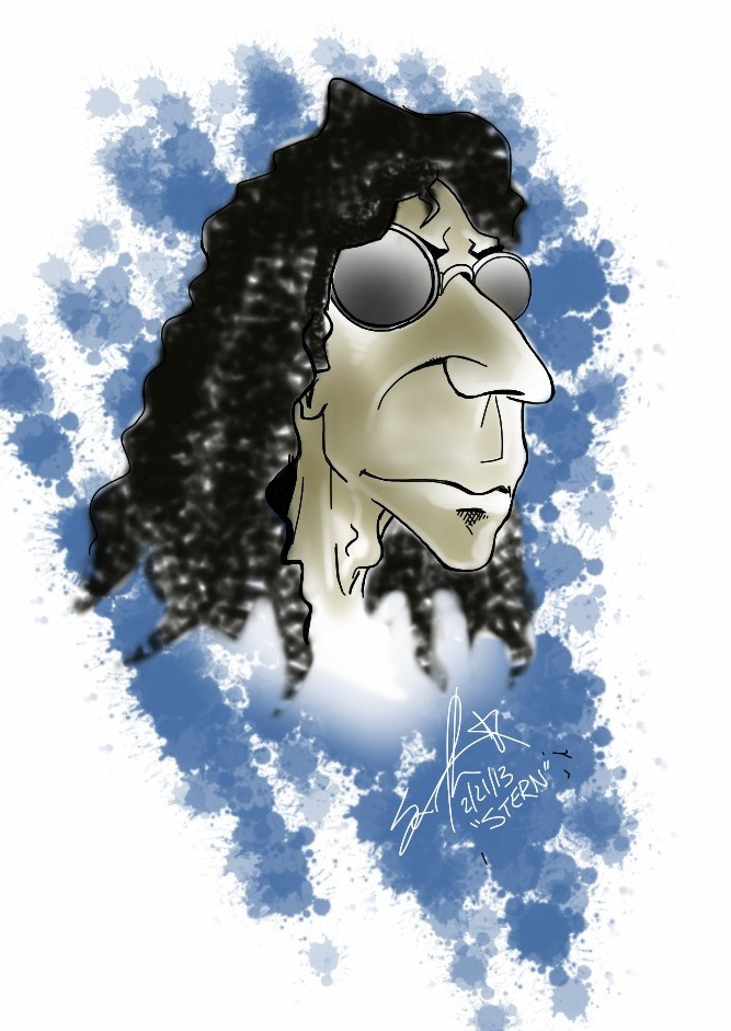 henley420:  iPad Howard Stern caricature.