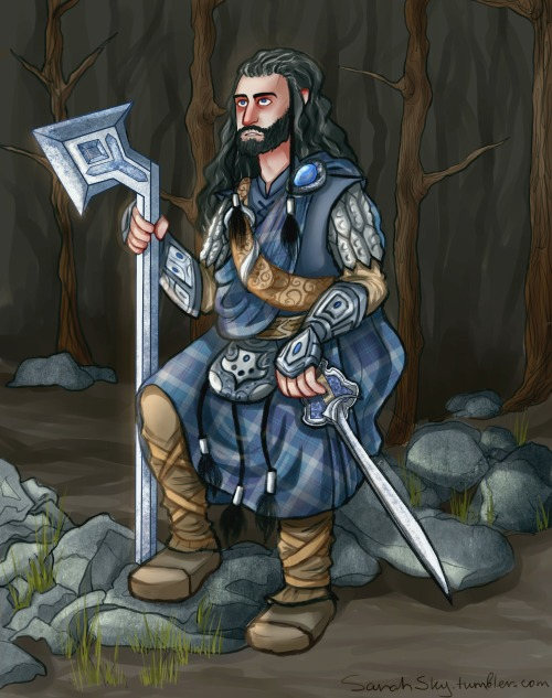 Thorin as the Scottish warrior