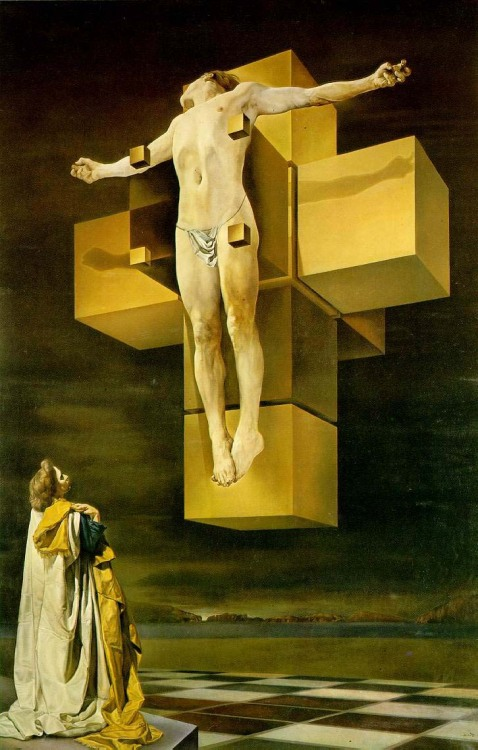 "fvckingbliss:  ""Crucifixion"" by Salvador Dali (1954)  Dali's Crucifixion"