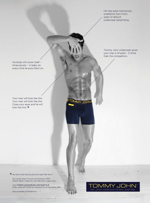 Recent advertising shoot for Tommy John underwear. Full page in InStyle magazine this month