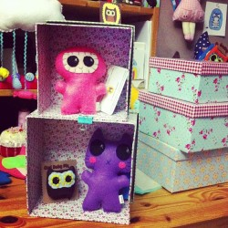 Rethinking my display stuff. Picked up these cute boxes today that I may or may not use… #needlings #handmade #etsy