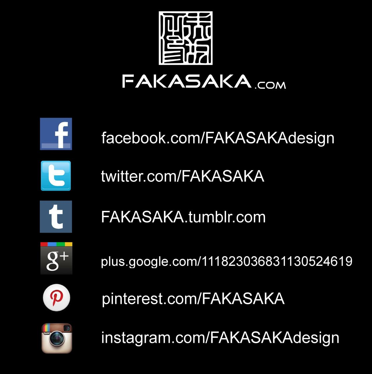 FOLLOW FAKASAKA DESIGN AND JEWELRY | www.FAKASAKA.com