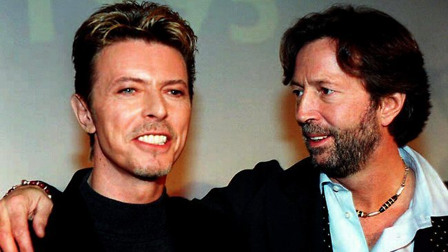 David Bowie and Eric Clapton, 1995