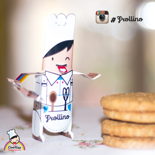 Frollino is the new mascotte about cooking and bakery  Download Frollino papertoy pdf : Frollino pdf template Frollino Papertoy is licensed under a Creative Commons Attribuzione - Non opere derivate 3.0 Unported License.Based on a work at www.cookiss.it.