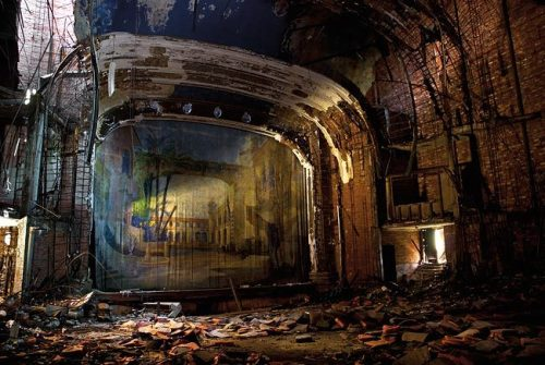 bouncyflolacey:  A tumbledown former theatre from photographer Julia Solis' new book Stages of Decay.