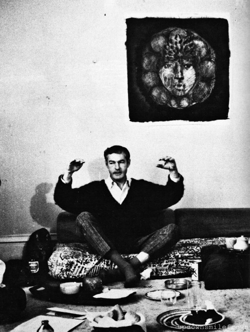 updownsmilefrown:  Harvard University fired psychologist, Timothy Leary, for his experiments with lysergic acid diethylamide, LSD, a powerful hallucinogen. But to the drug's enthusiastic fans, he was a guru, 1962. by Lawrence Schiller