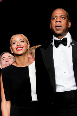 Beyonce and Jay-Z at the 55th Annual GRAMMY Awards.