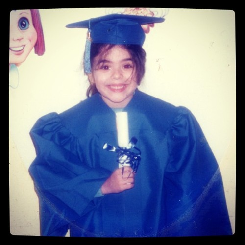Look at little me graduating kindergarten. 16 years later and I'm about to graduate college.