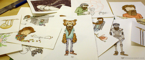 Original Pen & Watercolor Illustrations on Sale! It's time to let go of the past and make room for a couple new things. These old friends need homes. Chech them out at tillman.bigcartel.com!