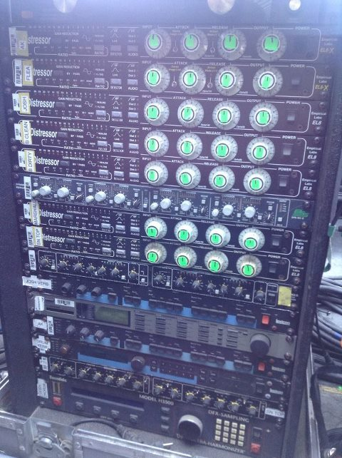 Red Hot Chili Peppers Monitor Rack by Rat Sound Systems at Coachella 2013.
