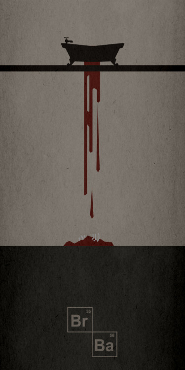 "Illustration minimaliste de spineless05 pour la série ""Breaking Bad Posters"" DeviantART 