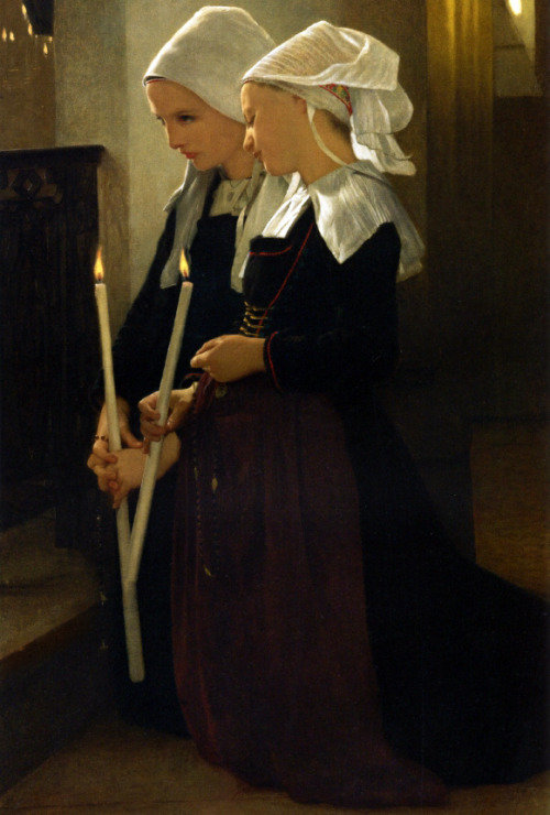 William-Adolphe Bouguereau, Prayer at Sainte Anne d'Auray, 1869.