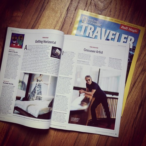 My picture of Andrea Bocelli is in the current National Geographic Traveler. Snag a copy!