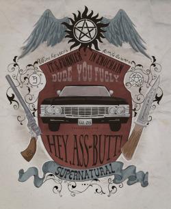 quotes supernatural fan art impala crest koroa