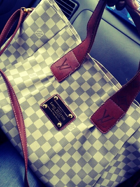 In love with my louis vuitton bag