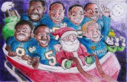 ndfootballnow:  Probably should have put this up before Christmas but it is still awesome. Glad to know Santa is pulling for the Irish.
