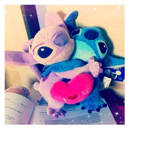 🌸🌸Angel&Stitch🌸🌸 #cute#couple#dolls#love#disneylandparis#disney#disneycharacter#liloandstitch#sweet#pink#blue#heart#kid#play#gift#photo#like#iphone#iphonesia#iphoneonly#instagood#instadaily#bestoftheday#igdaily