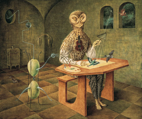 allesandersen:  Remedios Varo: Creation of the Birds. 1957, oil on masonite.