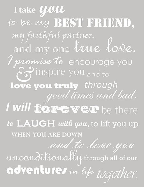 two-hearts-beating-wildly:  the sweetest vows. <3