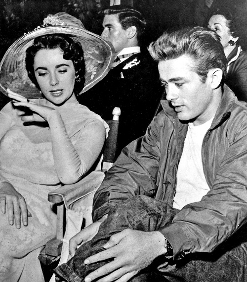 theniftyfifties:  Elizabeth Taylor and James Dean