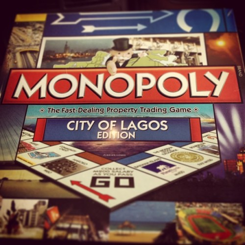 thatnigeriankid:  teenagekaiser:  First ever African city to have a monopoly board. So proud 😁 ✌✌#nigeria #lagos #monopoly  Will they change the pieces too? They should have an okada, a fufu stick, a Hummer jeep, a green card, a goat, a generator, a yam, and a lantern.