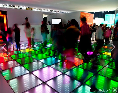 Le sol interactif vu par Energy Floors.