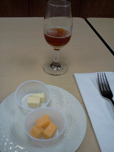 sampling beer and cheese at HyVee. Who knew?
