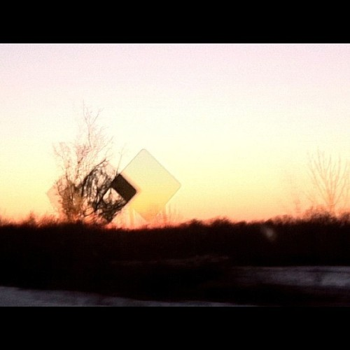 De-sign.  #design #signs #geometry #color #photography #sunset #orange #KGD #winter