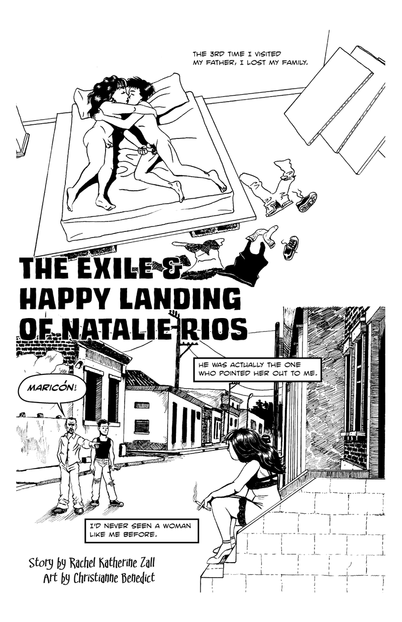 spaceykate:  krelllabs:  Exile page 1 by ~doctor-morbius This is a work in progress, but it's finished enough to show. Pen and ink on bristol board. I might make it color. I might not. I kinda like the black and white. This will run eleven or twelve pages when I'm done with it. It will also be VERY not safe for work.  OMG! FIRST PAGE! OMG! SO BEAUTIFUL! *dies* I was afraid when I gave Christianne a script that covers 21 years, 4 major characters and 6 sex scenes in 10 pages she would tell me I was nuts (well, I mean I am, but) and ask me to redo it, but her talent turns out to be more than up to the challenge. I just love all the little details she fits in to imply things about the characters that there was no possible way I was going to be able to talk about in such a short amount of space (in fact, I think panel 2 is the only place in the whole comic in which Ricardo Ríos shows up in full). For instance, the stack of untouched canvases in the corner of her father's apartment, or the way his clothes are a little too big, like a boy playing dress-up. Anyway! Please reblog so that everyone can see how beautiful this is because OMG am I proud to have been a part of this project.  This is incredible!!! I am so proud of you, Rachel! <3 <3 <3