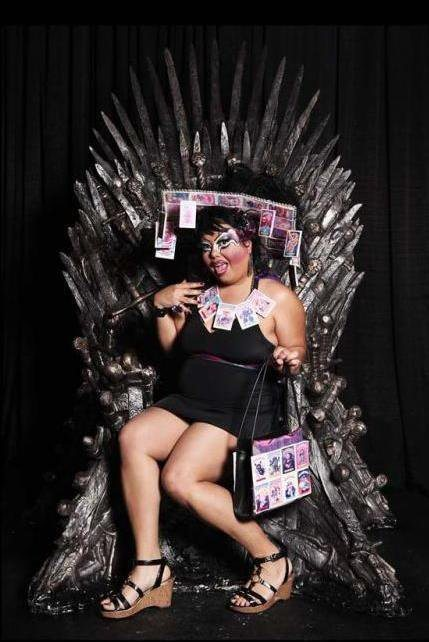 This queen simply could not resist sitting in this fierce throne. xoxo Holy McG.
