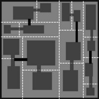 BSP Dungeon Generation  http://doryen.eptalys.net/articles/bsp-dungeon-generation/