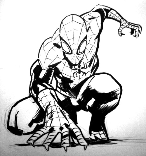 Superior Spider-Man commission, Toronto ComiCon. You'll  have to excuse the quality of the photo as I took it with my phone.