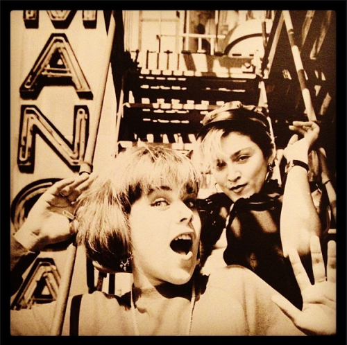 #Madonna and @DebiMazar 1982 from Debi's Instagram